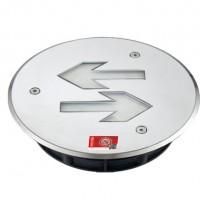 小圆形超薄不锈钢集控集电地埋灯